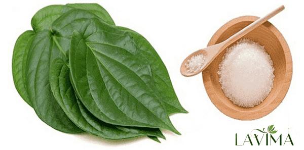 Chữa viêm phụ khoa dùng lá trầu không và muối