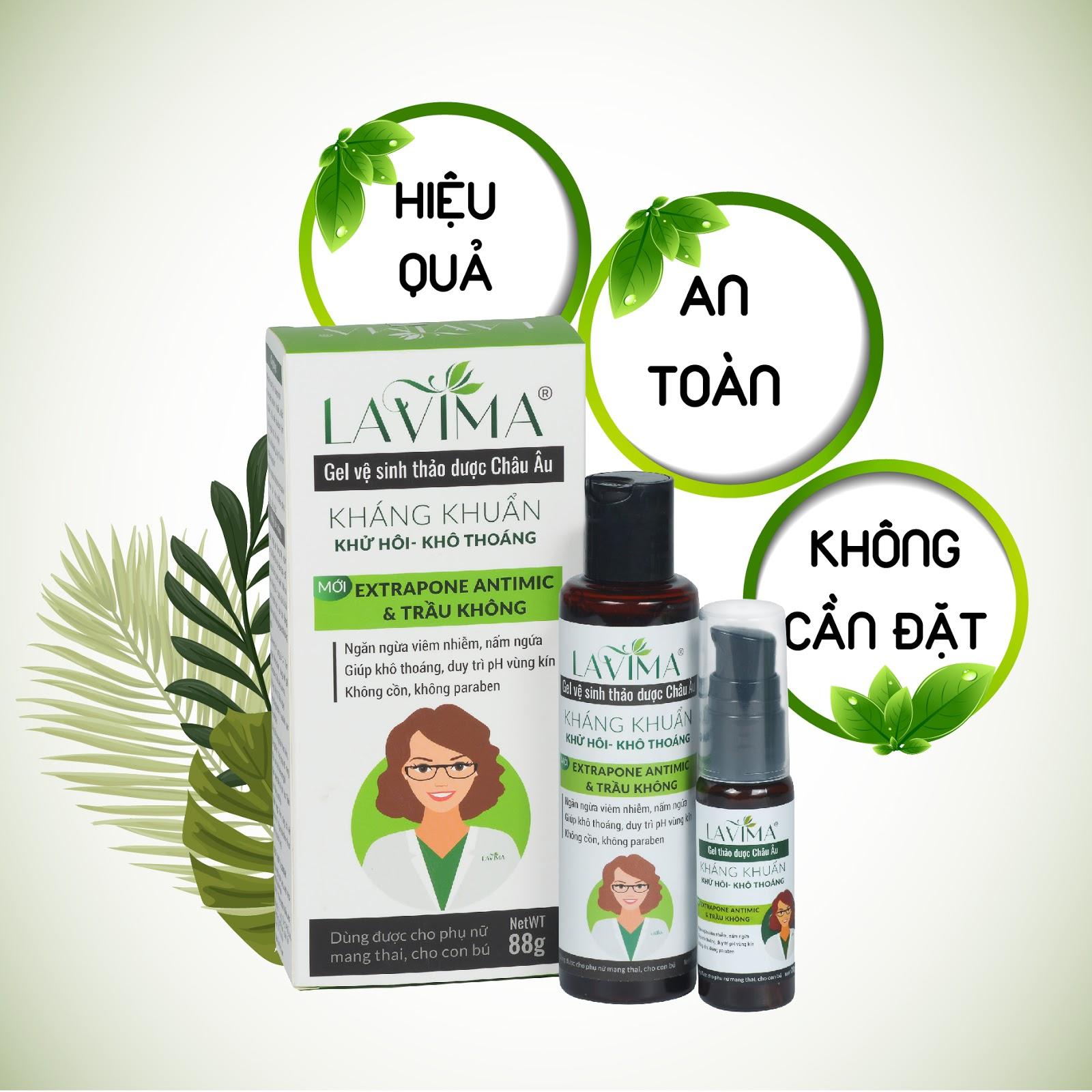 Lavima - Gel phụ khoa hiệu quả nhanh không lo kháng thuốc