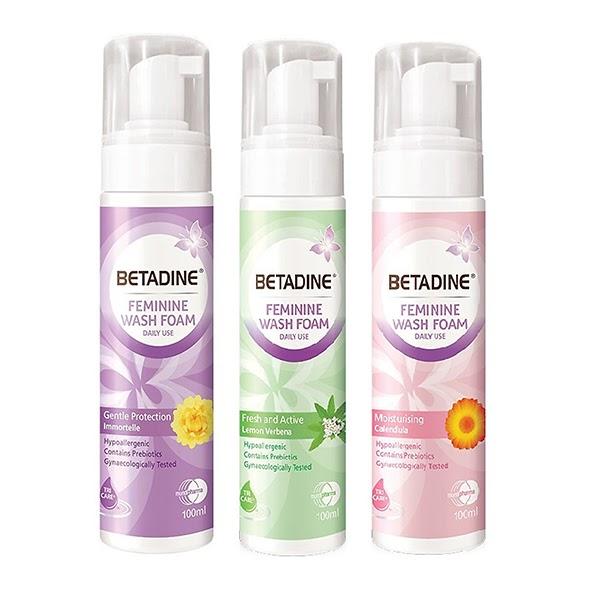 Bộ 3 chai bọt vệ sinh phụ nữ Betadine