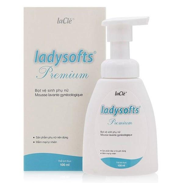 Bọt vệ sinh phụ khoa Ladysoft làm sạch dịu nhẹ với dạng bọt li ti