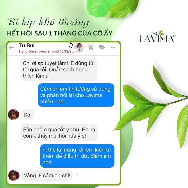 Phản hồi của chị em về Lavima