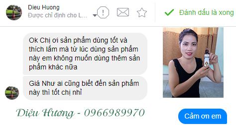 Chị Diệu Hương dùng sản phẩm thấy tốt và rất thích.