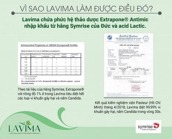 Chứng nhận khoa học của Lavima